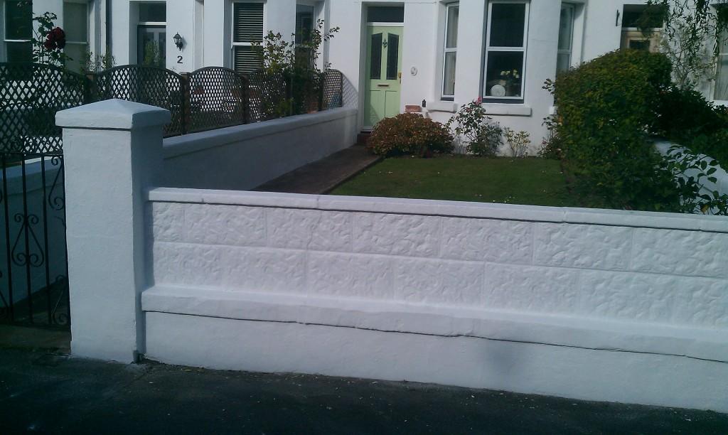 Garden walls repaired